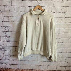 Tommy Bahama 1/4 Zip Pullover, Men's XL